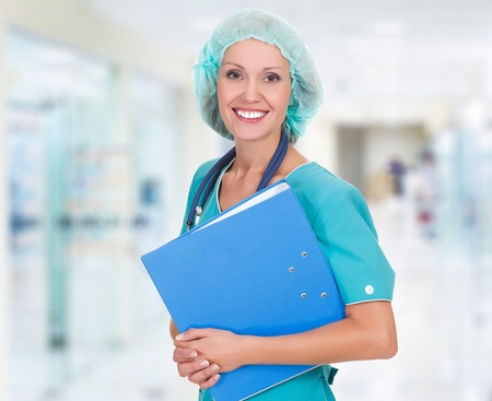 Medical doctor woman in the office Stock Photo - 15042174