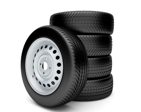3d tires isolated on white background Stock Photo - 15121346
