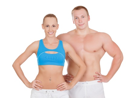 Sports woman and man  photo