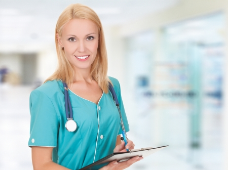 Medical doctor woman in the office  免版税图像
