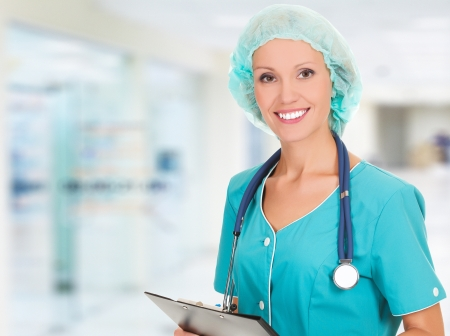 Medical doctor woman in the hospital