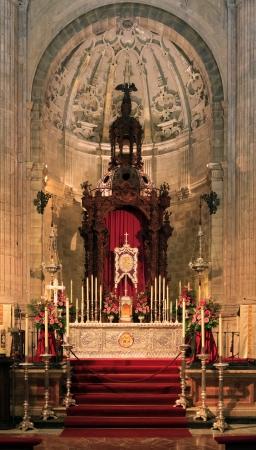 Santa Maria church, Ronda, Spain - church interior in the cathedral Stock Photo - 20325386