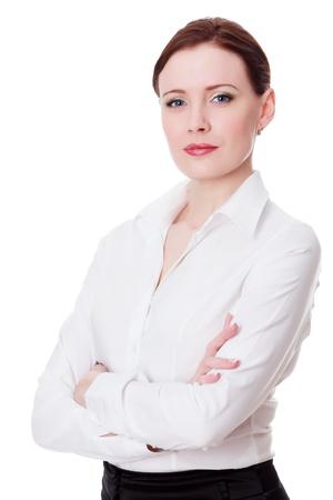 Businesswoman on white background 免版税图像