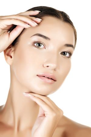 Beautiful asian girl with clean fresh skin photo