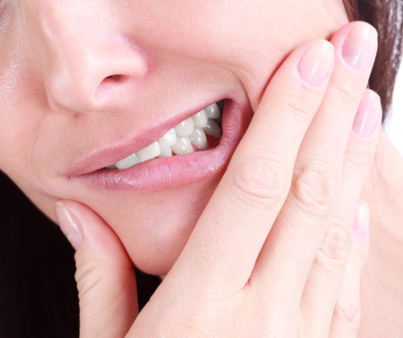 jaw: Woman with a tooth pain