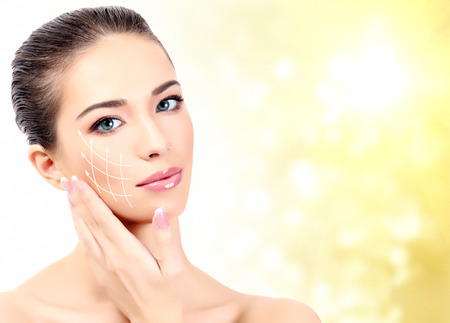 antiaging: Pretty woman. Antiaging concept. Stock Photo