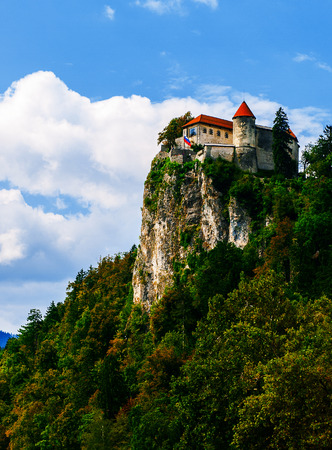 bled: Old castle on the Bled lake, Slovenia Editorial