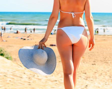 Woman on a beach photo