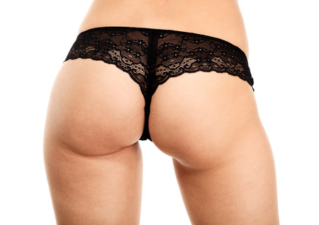 fesses black: Beau cul femme sur fond blanc