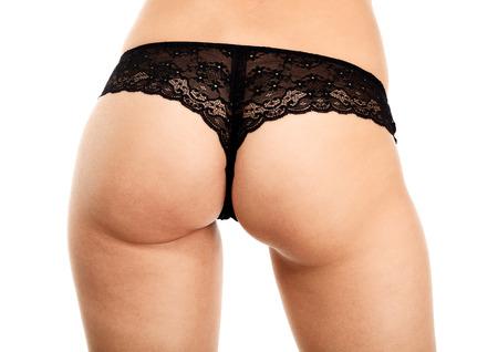 grosse fesse: Beau cul femme sur fond blanc