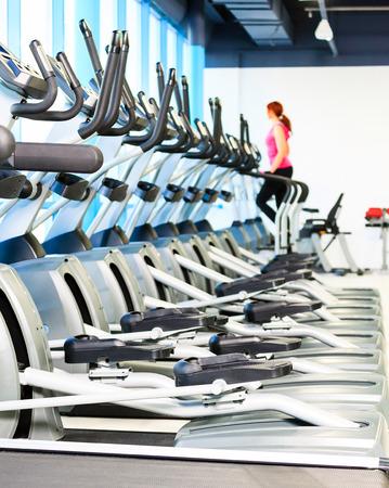 sports hall with equipment Standard-Bild