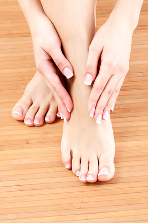hand care: Female feet and hands