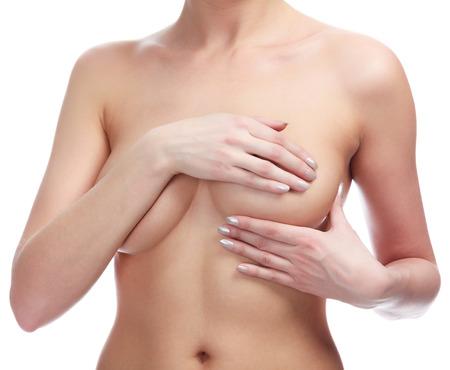 Женский управления молочной рака, изолированных на белом