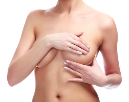 Beautiful breasts: Người phụ nữ kiểm soát brest ung thư, bị cô lập trên trắng