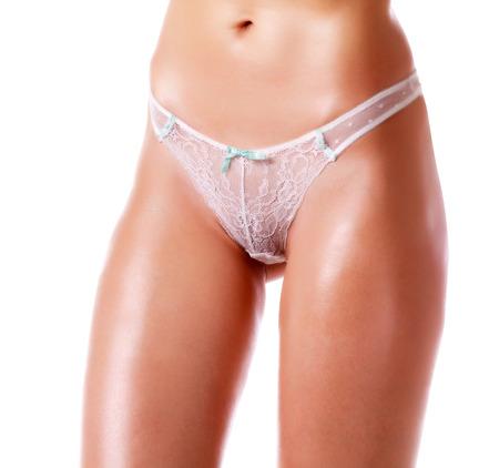 mujer desnuda: Cuerpo de mujer sexy, aislado en blanco