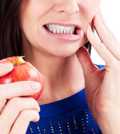 Toothpain を持つ女性 写真素材