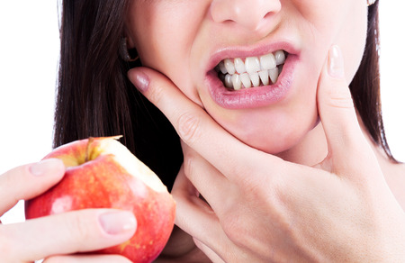 Woman with a toothpain