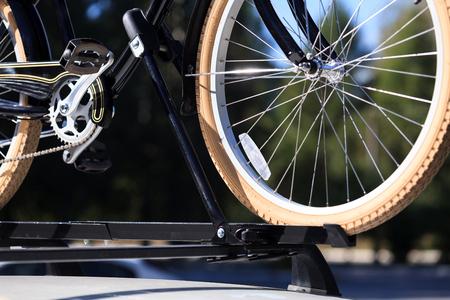 rack mount: Bike transportation - bike on the roof of a car