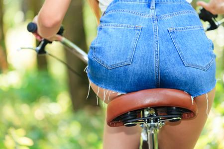 nice butt: Woman on a bike