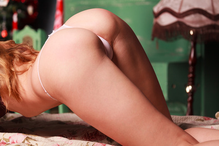 Woman in a provocative pose