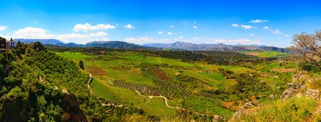 Beautiful view of the valley, Ronda, Spain