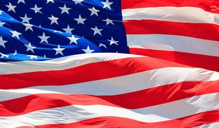 Closeup shot of the USA flag