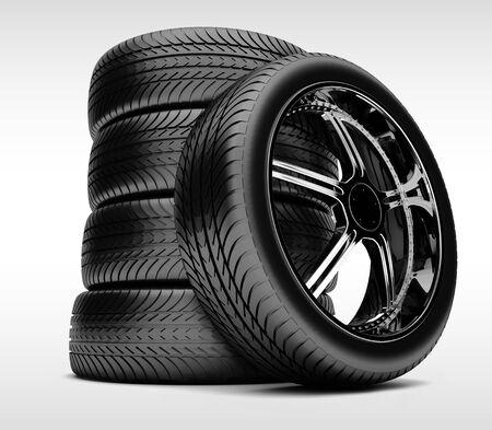 rim: Car wheels against a grey background