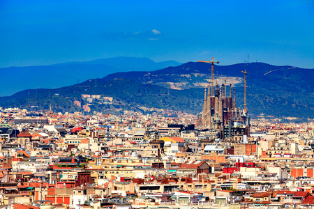 Panoramic view of the city of Barcelona, Spain