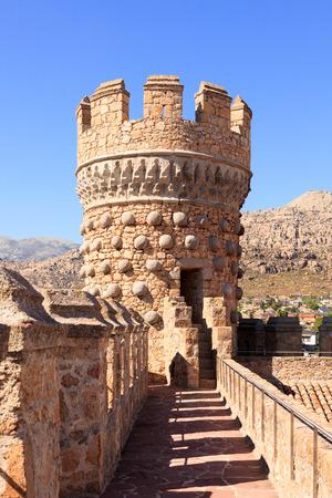 Tower of Castle of Manzanares el Real, Spain