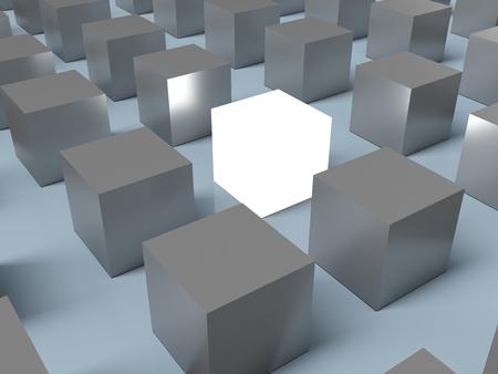 Destacándose entre la multitud. Representación 3D Foto de archivo