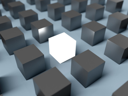 Standing out of the crowd. 3D rendering Stock Photo