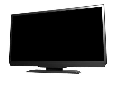 LED tv on white background. 3D rendering