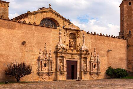 Cloister de Santa Maria de Poblet in Catalonia 版權商用圖片