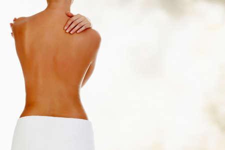 Beautiful naked female back