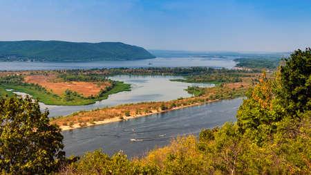 Volga river and Sok river near the city of Samara, Russia