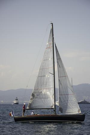 Cotre train tacking at the regattas Cannes, French Riviera Provence France 版權商用圖片