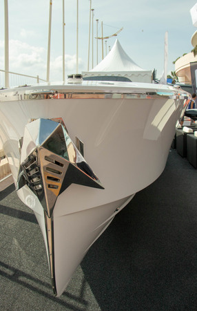 Cadillac boat, boat show 2018 Cannes, France Editorial