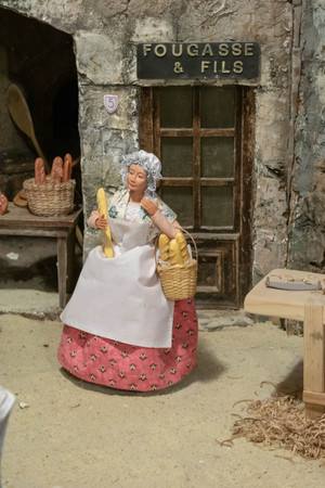 Santon de provence, the baker in the nativity scene