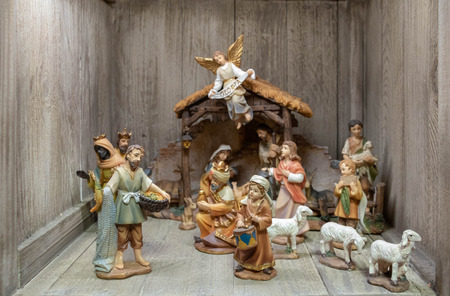The shepherd in a Christmas crib in santon provence (traditional figurine of Southern France for Christmas cribs)