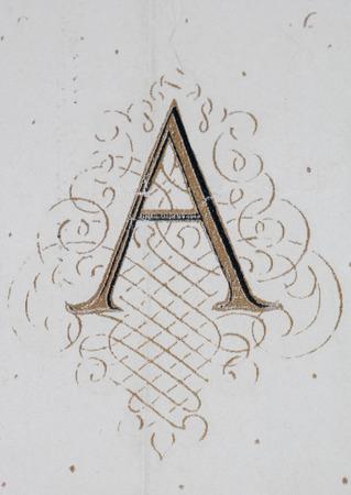 Illumination of a capital A