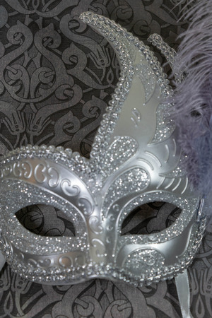 Carnival mask silver and purple Imagens