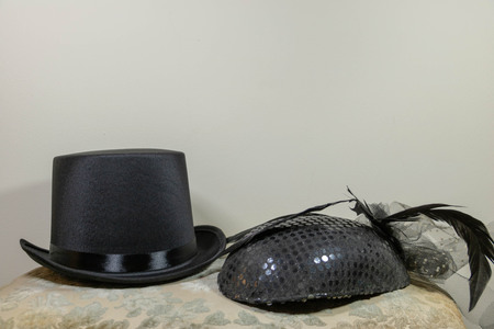hat and winged hat fascinator, mens hat and womens hat
