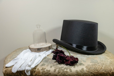 Gala, man's outfit with hat and white gloves Standard-Bild