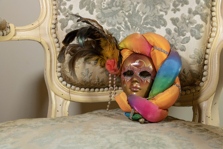 Very colorful carnival mask, harlequin style
