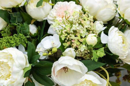 Artificial flower - white bouquet for wedding and reception