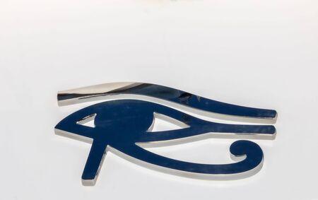 Left eye of Horus Egyptian god symbol of Egypt pharaonic eye Oudjat of Horus for divine protection 写真素材