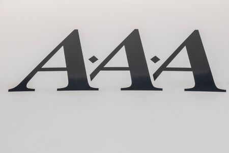 3 letters with rhombuses on a white background typography