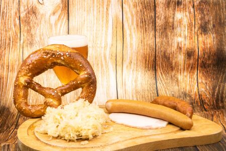 Graphic resource for Oktober Fest with a glass of beer and a sauerkraut