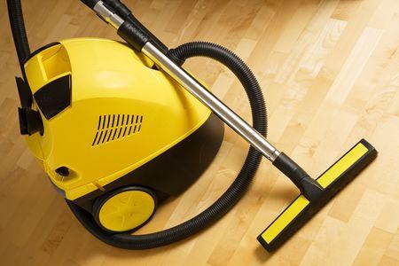 vacuum cleaner on a wooden floor