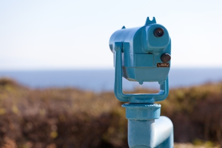 picture of seaside binoculars with nobody using them